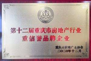第十二届重庆市澳门金莎娱乐网站行业重信誉品牌企业